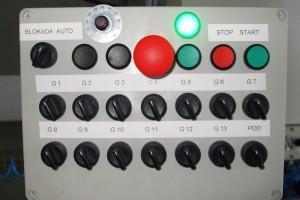 panel ustawień maszyny